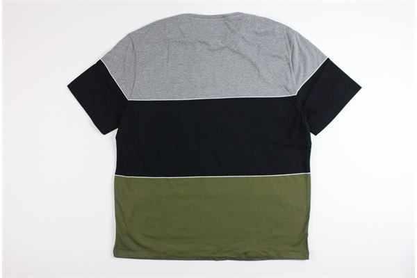 t-shirt mezza manica tricolore LYLE&SCOTT | T-shirts | 20299GRIGIO/VERDE/BLU