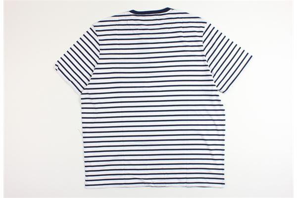 t-shirt mezza manica fantasia a righe LYLE&SCOTT | T-shirts | 20302BIANCO/BLU
