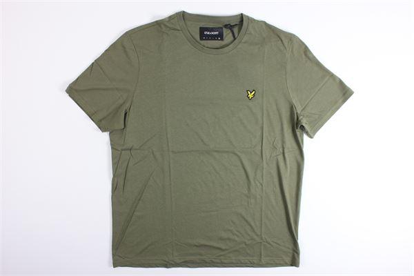 t-shirt mezza manica tinta unita LYLE&SCOTT | T-shirts | 20315VERDE MILITARE