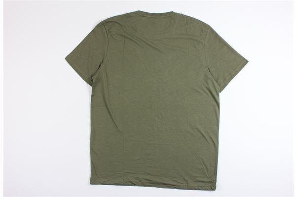 t-shirt mezza manica tinta unita con taschino in contrasto LYLE&SCOTT | T-shirts | 20843VERDE MILITARE