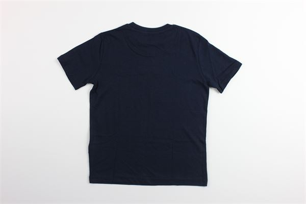 t-shirt tinta unita mezza manica con stampa LYLE&SCOTT   T-shirts   LSC0815BLU