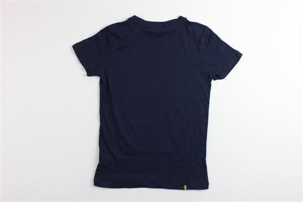 t-shirt tinta unita mezza manica con stampa MANUEL RITZ | T-shirts | MR0277BLU
