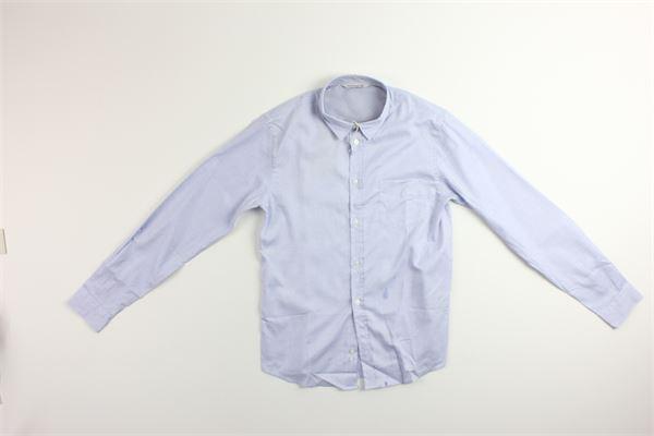 camicia manica lunga con microfantasia e taschino 100%cotone MANUEL RITZ | Camicie | MR0334CELESTE