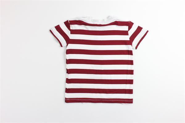 t-shirt tinta unita fantasia a righe MANUEL RITZ | T-shirts | MR0648BORDEAUX