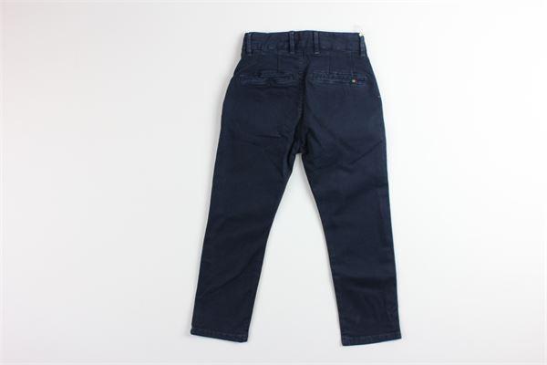 pantalone tinta unita girovita regolabile MANUEL RITZ | Pantaloni | MR0833BLU