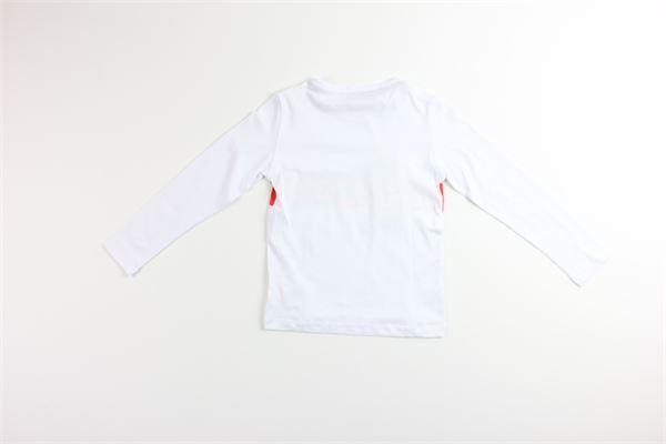 shirt tinta unita con stampa MANUEL RITZ | Shirts | MR0926BIANCO
