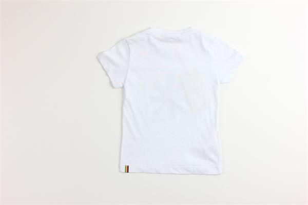 t-shirt tinta unita con stampa MANUEL RITZ | T-shirts | MR1018BIANCO