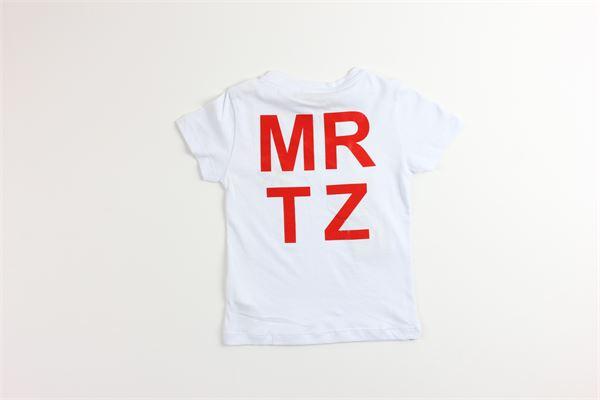 t-shirt tinta unita con stampa MANUEL RITZ | T-shirts | MR1024BIANCO