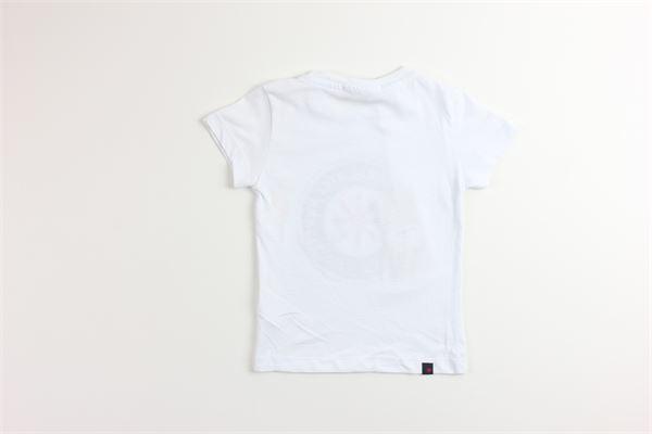 t-shirt tinta unita con stampa MANUEL RITZ | T-shirts | MR1026BIANCO