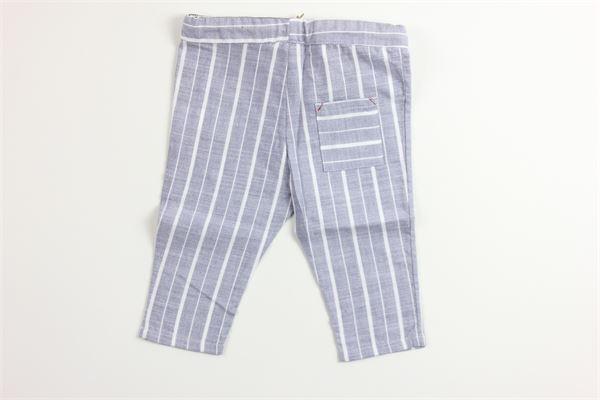 pantalone fantasia a righe elastico in vita MAPERO | Pantaloni | M21270GRIGIO