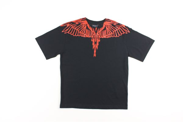 t-shirt bicolore con stampa MARCELO BURLON | T-shirts | 0010NERO