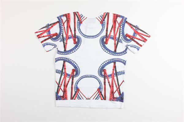 t-shirt mezza manica tinta unta con stampa MARCELO BURLON | T-shirts | MB1108BIANCO