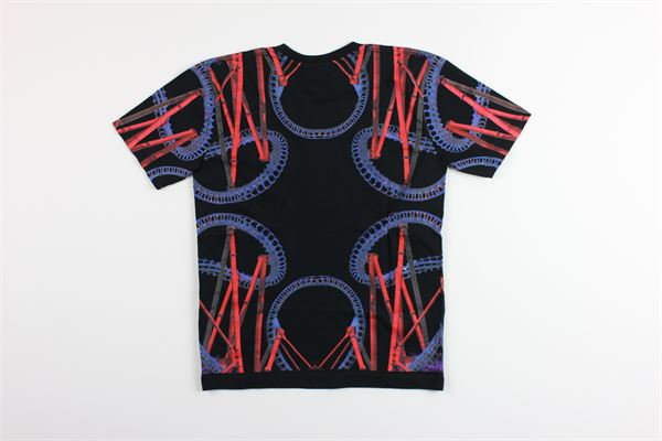 t-shirt mezza manica tinta unta con stampa MARCELO BURLON | T-shirts | MB1108NERO