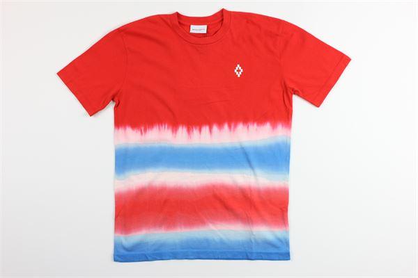 t-shirt mezza manica tricolore 100%cotone MARCELO BURLON | T-shirts | MB1125ROSSO/BIANCO