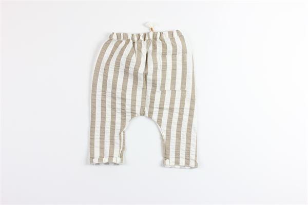 pantalone fantasia a righe elastico in vita MASSAGE IN THE BOTTLE | Pantaloni | TRAVISBEIGE
