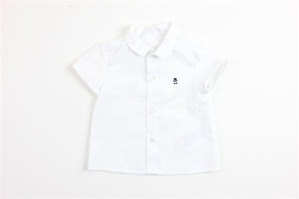 camicia mezza manica tinta unita 100%cotone MAYORAL | Camicie | 1141BIANCO