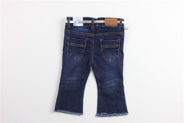 jeans 5 tasche con stampa fiori girovita regolabile e cintura MAYORAL | Jeans | 1557BLU