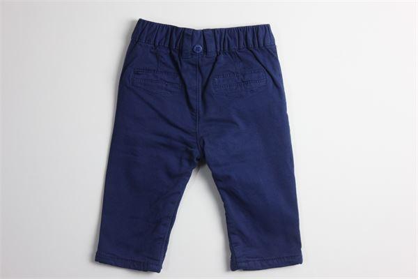 pantalone tinta unita elastico in vita con applicazione bottoni alla caviglia 100%cotone MAYORAL | Pantaloni | 2524BLU