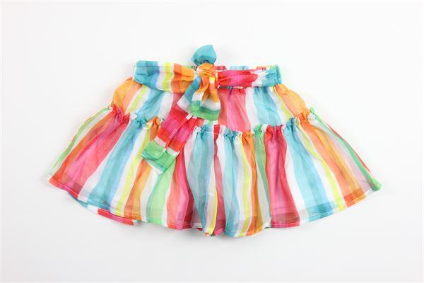 gonna fantasia a righe multicolor con fiocco MAYORAL | Pantagonne | 3281MULTICOLOR
