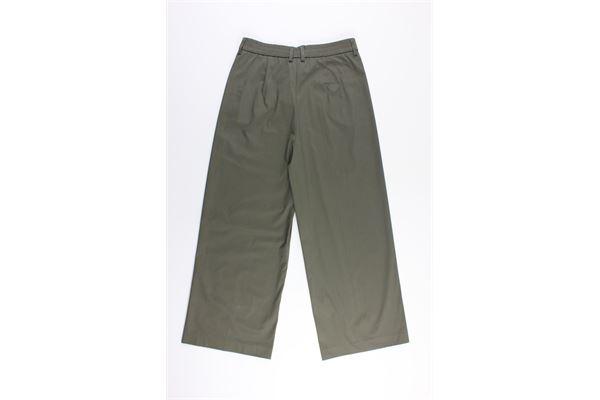 pantalone a palazzo tinta unita MERCI | Pantaloni | P245PVERDE MILITARE