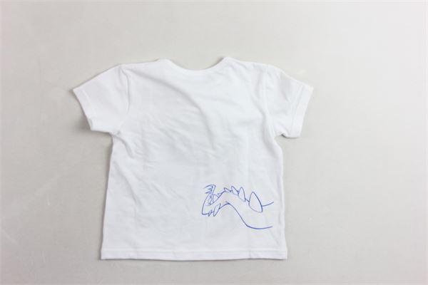 t-shirt mezza manica tinta unita con profili in contrasto MIA BU | T-shirts | 8056479322329BIANCO