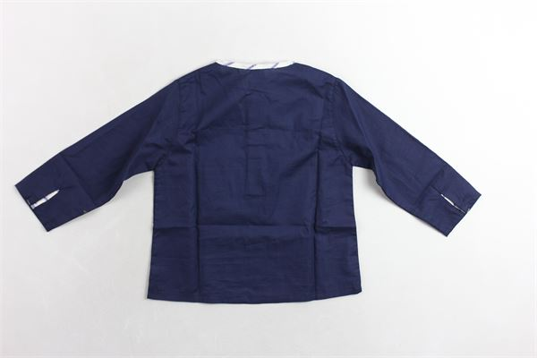 camicia manica lunga tinta unita con profili in contrasto MIA BU | Camicie | 8056479329076BLU
