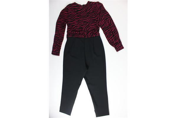 tutone camicia sembrata e pantalone tinta unita MICHAEL KORS | Tute | MH98ZDZDNERO