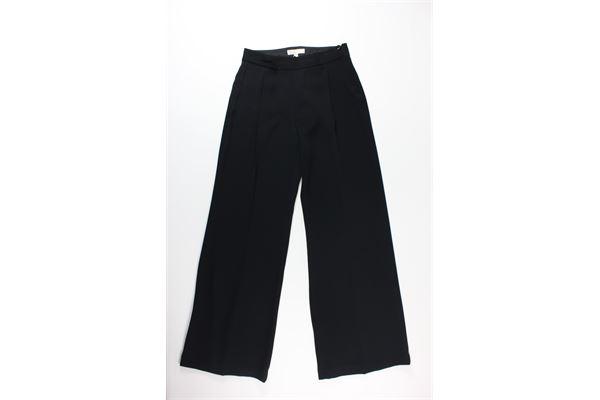 pantalone tinta unita a palazzo MICHAEL KORS | Pantaloni | MU83H086BZNERO
