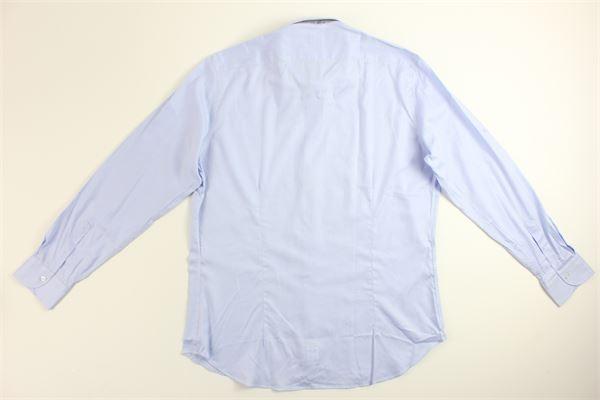 camicia manica lunga tinta unita 100%cotone MIRCAM | Camicie | SPIGATINOCELESTE