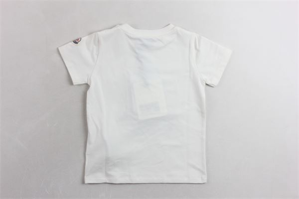 mezza manica con stampa MONCLER | T-shirts | 8812150BIANCO