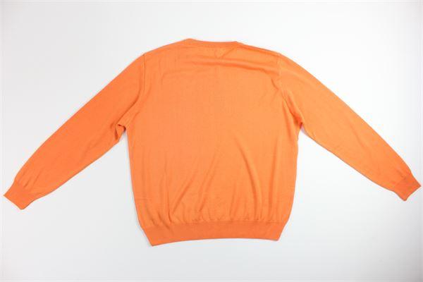 maglia girocollo tinta unita MONTECHIARO | Maglie | 00122110MARANCIO