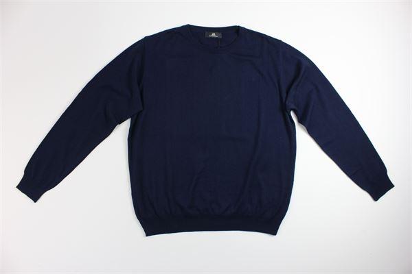 maglia girocollo tinta unita MONTECHIARO | Maglie | 00122110MBLU