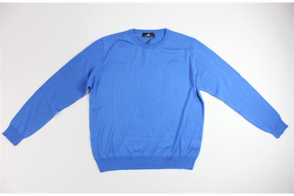 maglia girocollo tinta unita MONTECHIARO | Maglie | 00122110MCELESTE