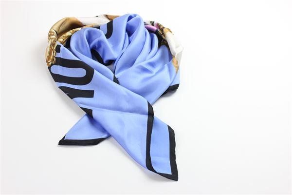 foulard con stampa fantasia MOSCHINO | Foulards | A9350AZZURRO