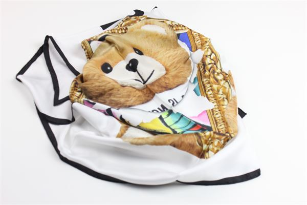 foulard con stampa fantasia MOSCHINO | Foulards | A9350BIANCO
