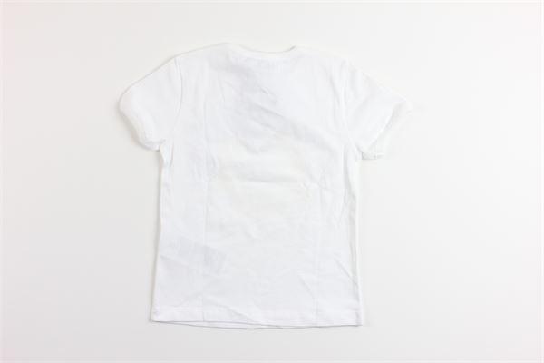 t-shirt tinta unita con stampa MOSCHINO | T-shirts | MUM01ZBIANCO