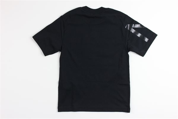 t-shirt mezza manica tinta unita con stampa N°21 | T-shirts | N21498NERO