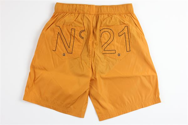 boxer tinta unita con stampa N°21 | Costumi | N214A0GIALLO SENAPE