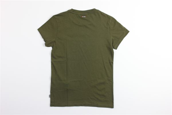 t-shirt mezza manica tinta unita con stampa logo NAPAPIJRI | T-shirts | NP0A4E53GW11VERDE MILITARE