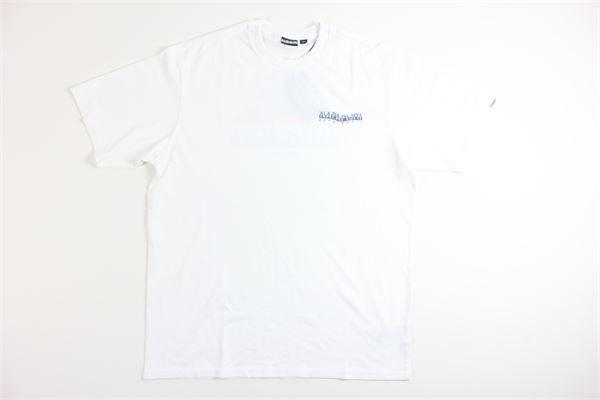 t-shirt mezza manica tricolore con stampa NAPAPIJRI | T-shirts | NP0A4EC30021BIANCO
