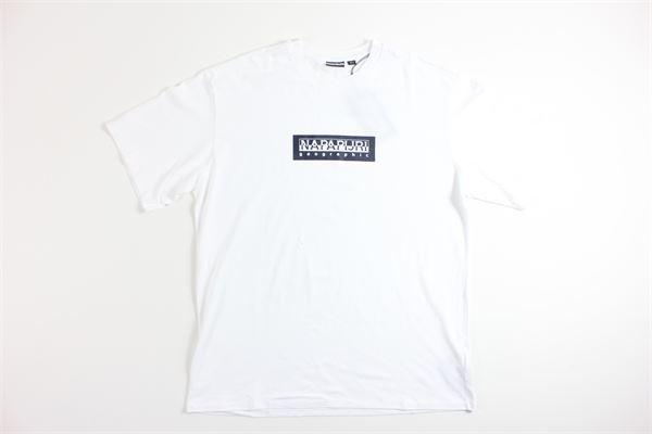 t-shirt mezza manica tricolore con stampa NAPAPIJRI | T-shirts | NP0A4EGA0021BIANCO