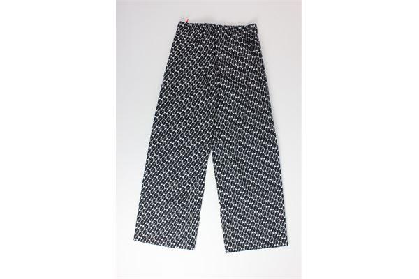 pantalone a palazzo stampa fantasia NIU | Pantaloni | PE20210T0K02D4NERO