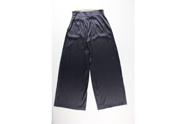 pantalone tinta unita con cintura NIU | Pantaloni | PE20214T0402D4CARBONE