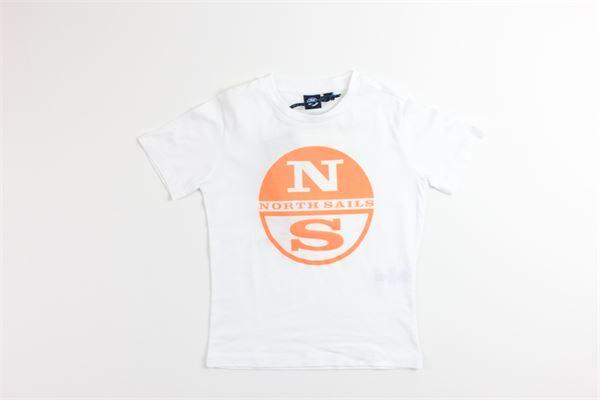 t-shirt tinta unita con stampa NORTH SAILS | T-shirts | 794588BIANCO