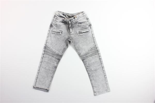 jeand tinta unita in denim con girovita regolabile NUMBERS | Jeans | 17012GRIGIO