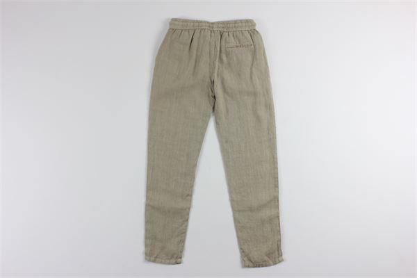 pantalone in lino tinta unita tasche america NUPKEET | Pantaloni | 01NK541BEIGE