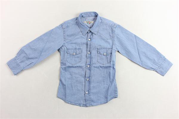 camicia in denim con taschini NUPKEET | Camicie | 01NK565BLU