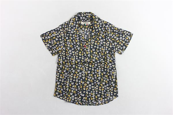 camicia mezza manica fantasia fiori NUPKEET | Camicie | 01NK578NERO