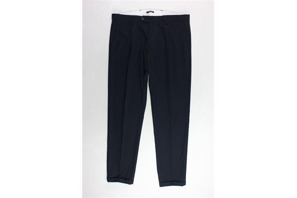 pantalone tinta unita con tasche ameicana OFFICINA36 | Pantaloni | OFFICINA36PANTALONE1BLU