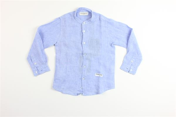 camicia manica lunga tinta unita 100%lino PAOLO PECORA | Camicie | GURUCCELESTE